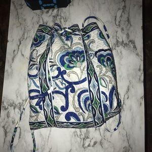 vera bradley drawstring bag purse